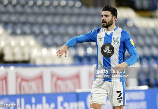Huddersfield Town's Pipa during the Sky Bet Championship match between Huddersfield Town and Watford at John Smith's Stadium on December 19, 2020 in...