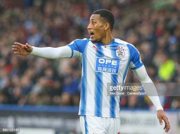 Huddersfield Town's Rajiv van La Parra during the Premier League match between Huddersfield Town and Swansea City at John Smith's Stadium on March 10...