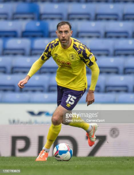 Huddersfield Town's Richard Keogh during the Sky Bet Championship match between Reading and Huddersfield Town at Madejski Stadium on May 8, 2021 in...