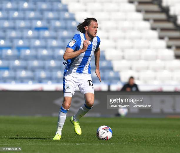 Huddersfield Town's Richard Stearman during the Sky Bet Championship match between Huddersfield Town and Norwich City at John Smith's Stadium on...