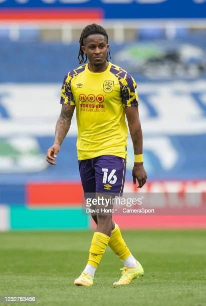 Huddersfield Town's Rolando Aarons during the Sky Bet Championship match between Reading and Huddersfield Town at Madejski Stadium on May 8, 2021 in...