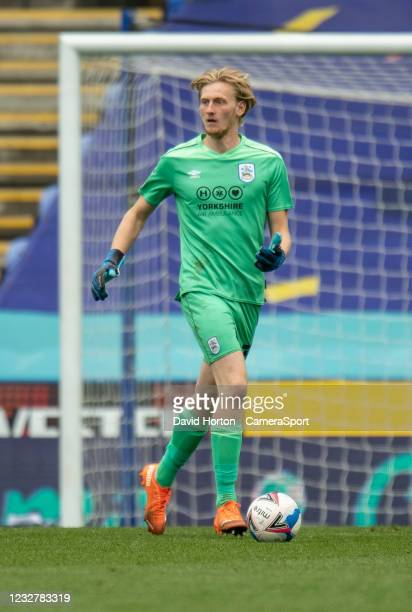 Huddersfield Town's Ryan Schofield during the Sky Bet Championship match between Reading and Huddersfield Town at Madejski Stadium on May 8, 2021 in...