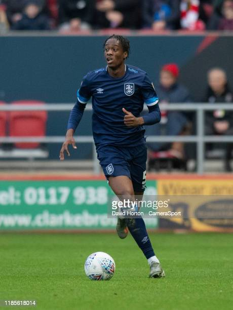 Huddersfield Town's Terence Kongolo during the Sky Bet Championship match between Bristol City and Huddersfield Town at Ashton Gate on November 30,...