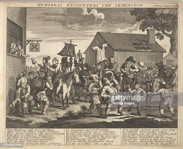 Hudibras Encounters the Skimmington , 1725-30 . Artist Unknown.