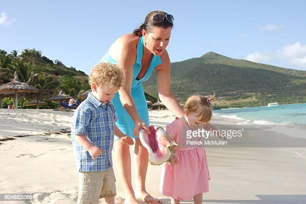 Hudson Harden Scheel Marcia Gay Harden and Julitta Dee Harden Scheel attend Raffles Resort Canouan Island Family Fun at Godahl Beach at Raffles...