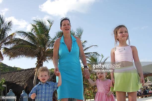 Hudson Harden Scheel Marcia Gay Harden Julitta Dee Harden Scheel and Eulala Grace Scheel attend Raffles Resort Canouan Island Family Fun at Godahl...