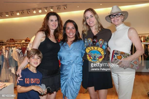 Hudson Katzoff Danielle Englebardt Samantha Yanks Brett Heyman and Carol Weisman attend an Edie Parker PopUp at Intermix hosted by EditorinChief...