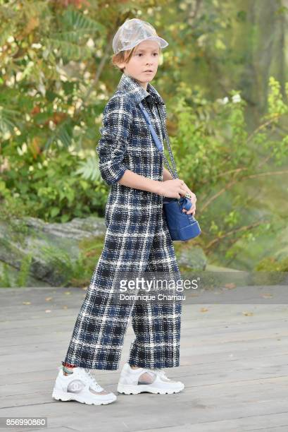 Hudson Kroenig godson of Karl Lagerfeld walks the runway during the Chanel show as part of the Paris Fashion Week Womenswear Spring/Summer 2018 on...