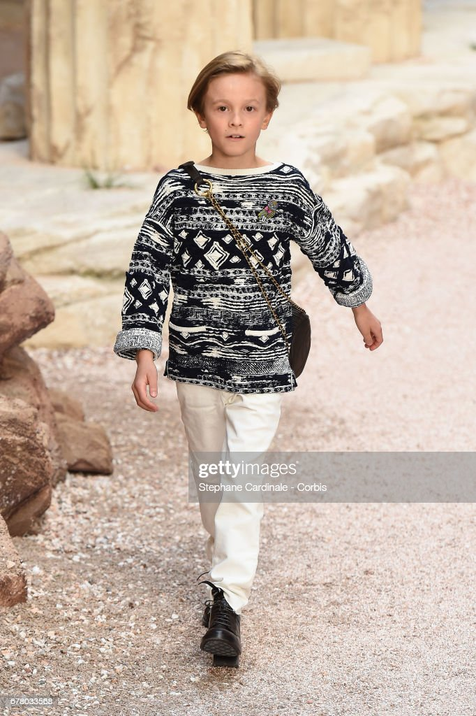 Hudson Kroenig walks the runway during the Chanel Cruise 2017/2018 Collection at Grand Palais on May 3, 2017 in Paris, France.