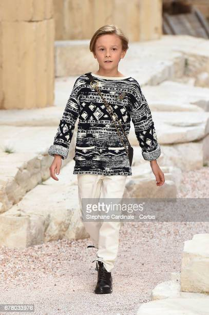 Hudson Kroenig walks the runway during the Chanel Cruise 2017/2018 Collection at Grand Palais on May 3 2017 in Paris France
