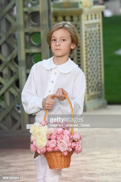 Hudson Kroenig walks the runway during the Chanel Spring Summer 2018 show as part of Paris Fashion Week on January 23 2018 in Paris France