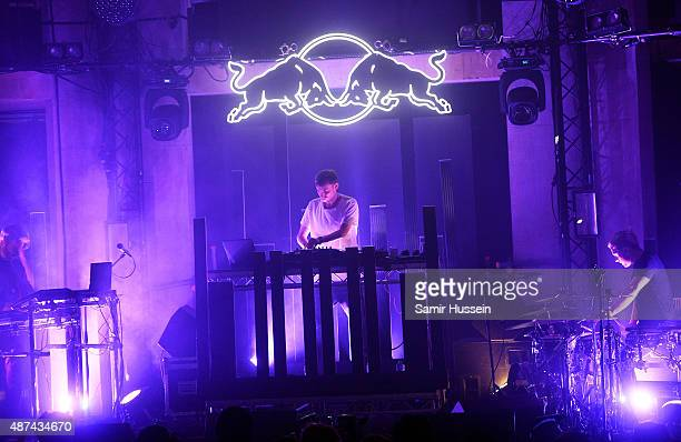 Hudson Mohawke perform during the Red Bull Studios Future Underground first night at Collins Music Hall on September 9 2015 in London England