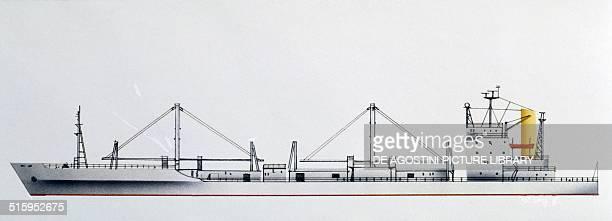 Hudson Rex cargo ship Panama drawing