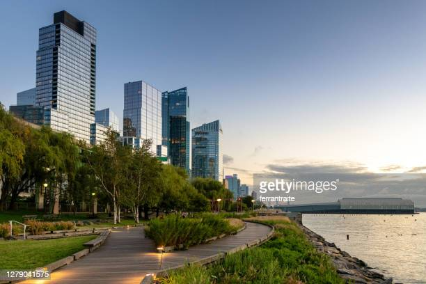 hudson river waterfront greenway new york city - new jersey stock pictures, royalty-free photos & images