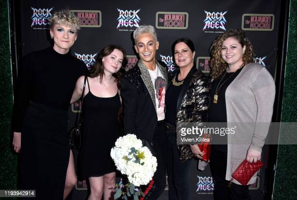 Hudson Scheel Eulala Scheel Frankie Grande Marcia Gay Harden and Julitta Scheel attend Opening Night Of Rock Of Ages Hollywood At The Bourbon Room at...