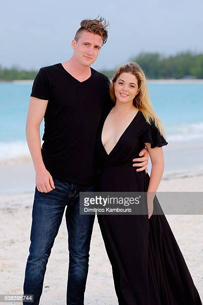 Hudson Sheaffer and Sasha Pieterse attend Sandals Emerald Bay Celebrity Golf Weekend on June 4 2016 in Great Exuma Bahamas