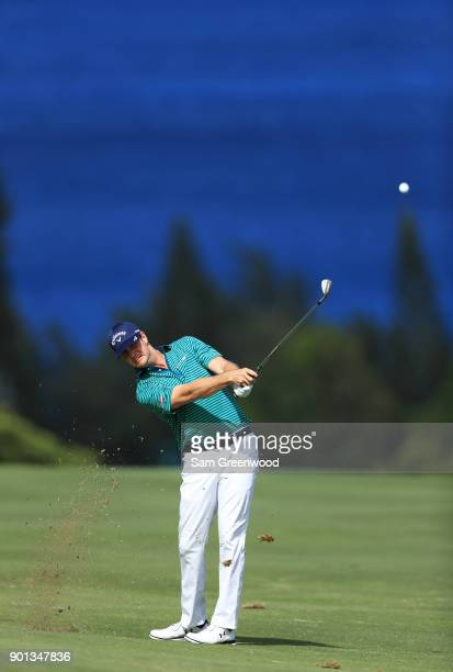 Hudson Swafford of the United States plays a shot on the fourth hole during the first round of the Sentry Tournament of Champions at Plantation...