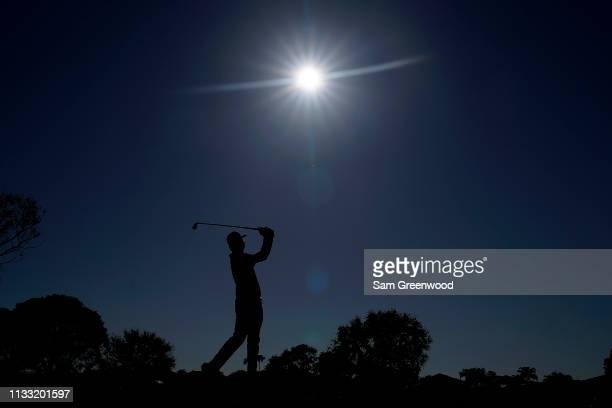 Hudson Swafford plays his shot from the fifth tee during the third round of the Honda Classic at PGA National Resort and Spa on March 02 2019 in Palm...