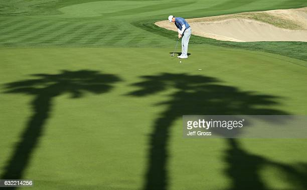 Hudson Swafford putts on the 16th hole during the second round of the CareerBuilder Challenge in Partnership with The Clinton Foundation at the Jack...