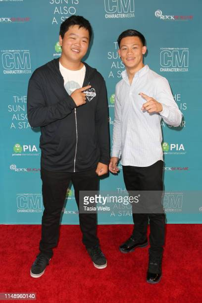 "Hudson Yang and Brandun Lee attend the Special Screening of Warner Bros ""The Sun Is Also A Star"" at Westfield Century City AMC on May 13, 2019 in Los..."