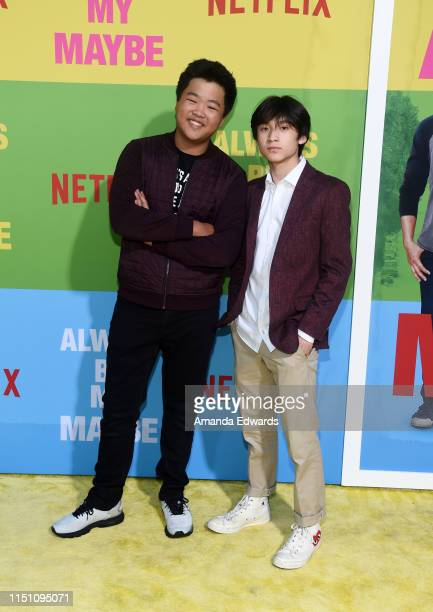 Hudson Yang and Forrest Wheeler arrive at the premiere of Netflix's Always Be My Maybe at the Regency Village Theatre on May 22 2019 in Westwood...