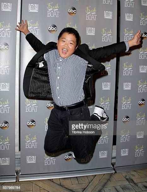Hudson Yang attends the Emmy FYC event for ABC's 'Fresh Off The Boat' at The London Hotel on June 3 2016 in West Hollywood California