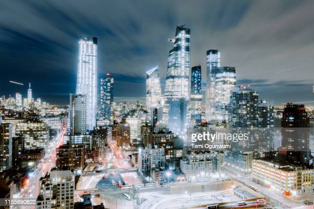 hudson yard new york city - river hudson stock pictures, royalty-free photos & images