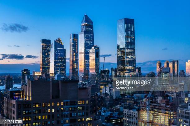hudson yards and manhattan west - new york - tower stock pictures, royalty-free photos & images