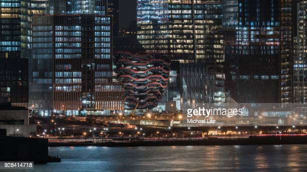 hudson yards development and vessel - new york - hudson yards stock pictures, royalty-free photos & images