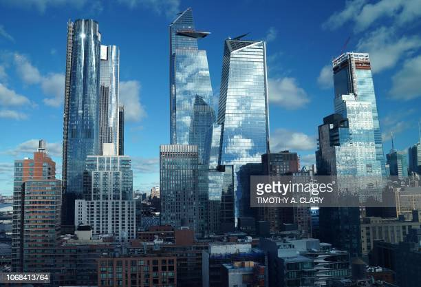 Hudson Yards in midtown New York City is pictured December 4, 2018. - Hudson Yards is the largest private real estate development in the history of...