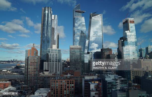 Hudson Yards in midtown New York City is pictured December 4 2018 Hudson Yards is the largest private real estate development in the history of the...