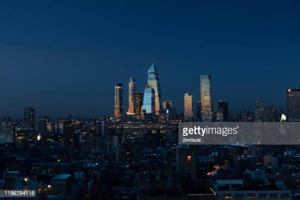 hudson yards midtown cityscape - hudson yards stock pictures, royalty-free photos & images