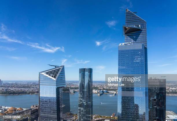 hudson yards - new york - hudson yards stock pictures, royalty-free photos & images