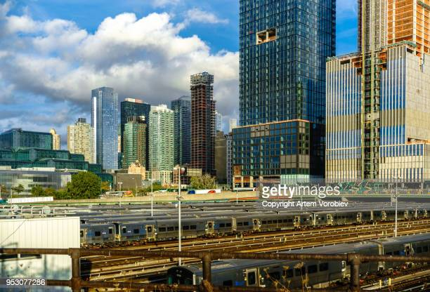 hudson yards, new york - hudson yards stock pictures, royalty-free photos & images