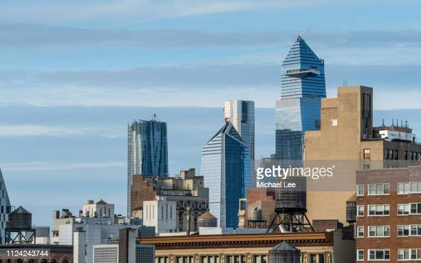 hudson yards skyline view - new york - hudson yards stock pictures, royalty-free photos & images