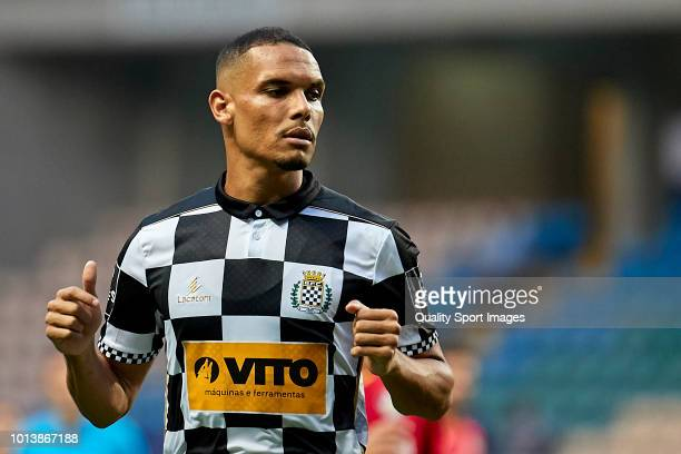 Hueglo dos Santos Neris of Boavista CF looks on during the Preseason friendly match between Boavista FC and Getafe CF at Estadio do Bessa XXI on...