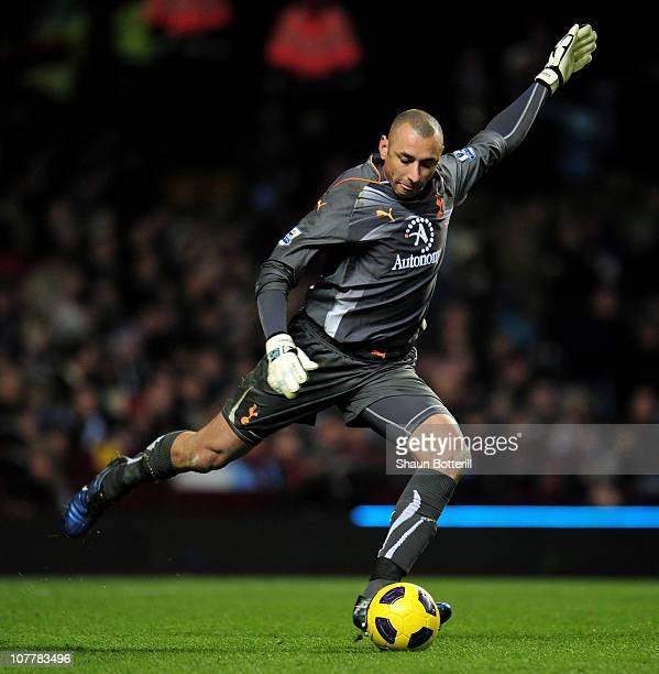 Huerelho Gomes of Tottenham in action during the Barclays Premier League match between Aston Villa and Tottenham Hotspur at Villa Park on December 26...