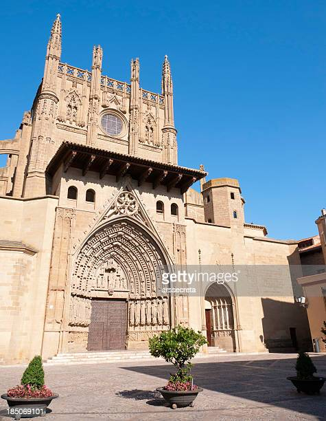 huesca cathedral - huesca stock pictures, royalty-free photos & images