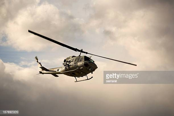 huey helicopter - military helicopter stock photos and pictures
