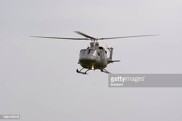 huey - in flight from front - helicopter photos stock pictures, royalty-free photos & images