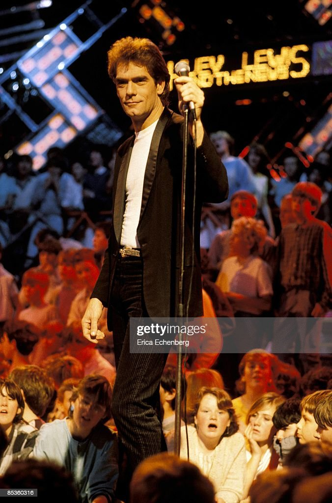 Huey Lewis and The News perform on the UK TV show The Tube, Newcastle, circa 1983.