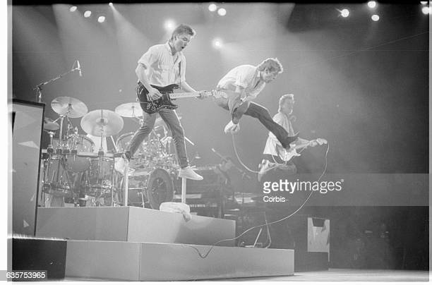 Huey Lewis Johnny Colla and Chris Hayes in Stage Leap