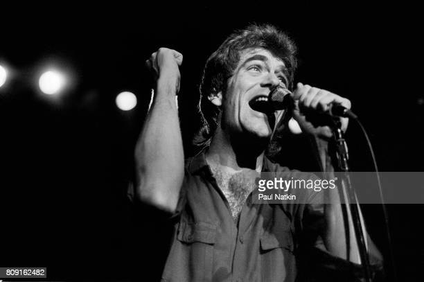 Huey Lewis performing at the Park West in Chicago Illinois May 1 1982