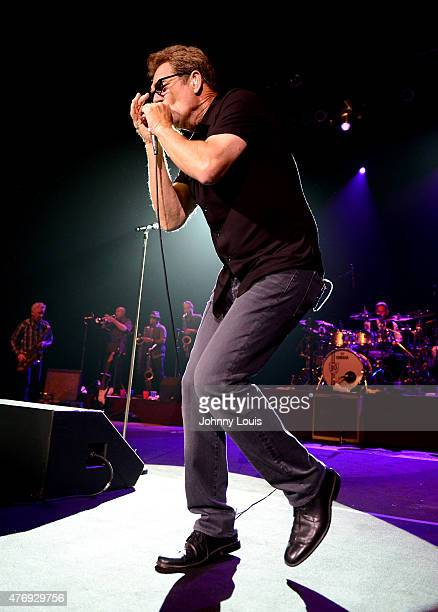 Huey Lewis performs at Hard Rock Live on June 12 2015 in Hollywood Florida