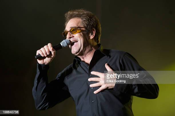 Huey Lewis performs during the 2013 Allstate Fan Fest at the Allstate Sugar Bowl in the Jax Brewery Parking Lot on December 31 2012 in New Orleans...