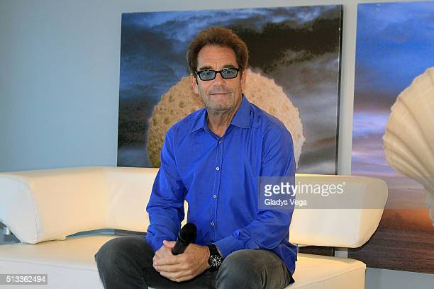 Huey Lewis talks to media as part of Huey Lewis the News Press Conference at La Concha Hotel Casino on March 2 2016 in San Juan Puerto Rico