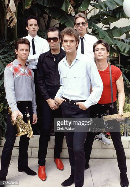 Huey Lewis The News 1982 at the Music File Photos 1980's in Hottywood California