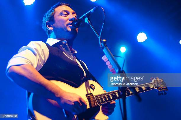Huey Morgan of Fun Lovin' Criminals performs on stage at O2 Academy on March 9 2010 in Newcastle upon Tyne England
