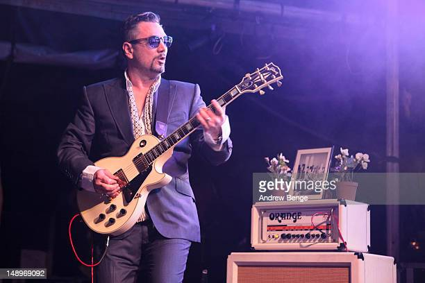 Huey Morgan of Fun Lovin Criminals performs on stage during Cockrock music festival at Wellington Farm on July 20, 2012 in Cockermouth, United...