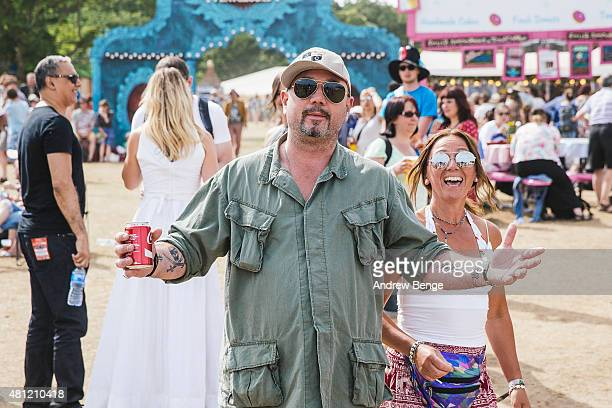 Huey Morgan of Fun Lovin Criminals poses at Latitude Festival on July 18 2015 in Southwold United Kingdom